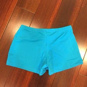 Natalie Dancewear Shorts - Natalie Dance Wear Blue Shorts Small